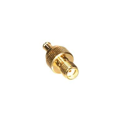 SMA Jack to MCX Plug Adapter - Amphenol Connex RF Adapter (SMA Female  /  MCX Male)