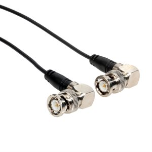 BNC Right Angle Male to BNC Right Angle Male (RG174) 50 Ohm Coaxial Cable Assembly