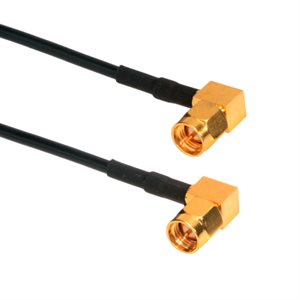 SMA Right Angle Male to SMA Right Angle Male (RG174) 50 Ohm Coaxial Cable Assembly