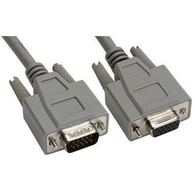 15-Pin (HD15) Deluxe HD D-Sub Cable - Copper Shielded - Male  /  Female