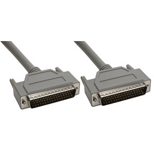 50-Pin (DB50) Deluxe D-Sub Cable - Copper Shielded - Male  /  Male