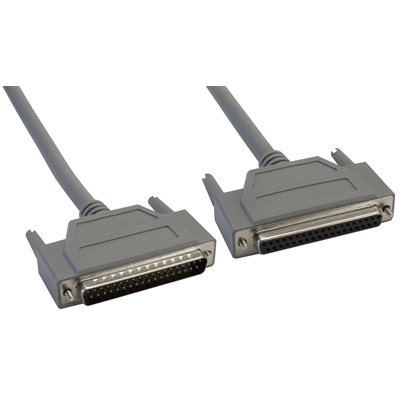 37-Pin (DB37) Standard Shielded D-Sub Cable - Male  /  Female