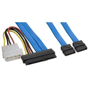 29 position SAS to SATA Drive Connector Dual Data Lanes Cable