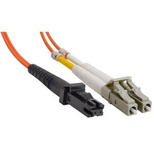 MTRJ-LC Duplex Multimode 50 / 125 Fiber Optic Patch Cable (OFNR Riser) - 2 x MT-RJ Male to 2 x LC Male