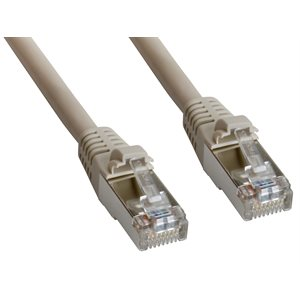 Cat5e STP Double Shielded Patch Cable (Braid+Foil Screened) with RJ45 Connectors - 350MHz CAT5e Rated