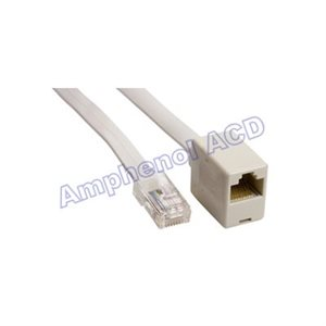 Modular Extension Cable, Straight-Thru, RJ45