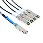 3m QSFP to 4 SFP+ Splitter Cable (30 AWG Passive Copper) - 1 x QSFP+ (40G) to 4 x SFP+ (10G) Connectors (9.8 ft)