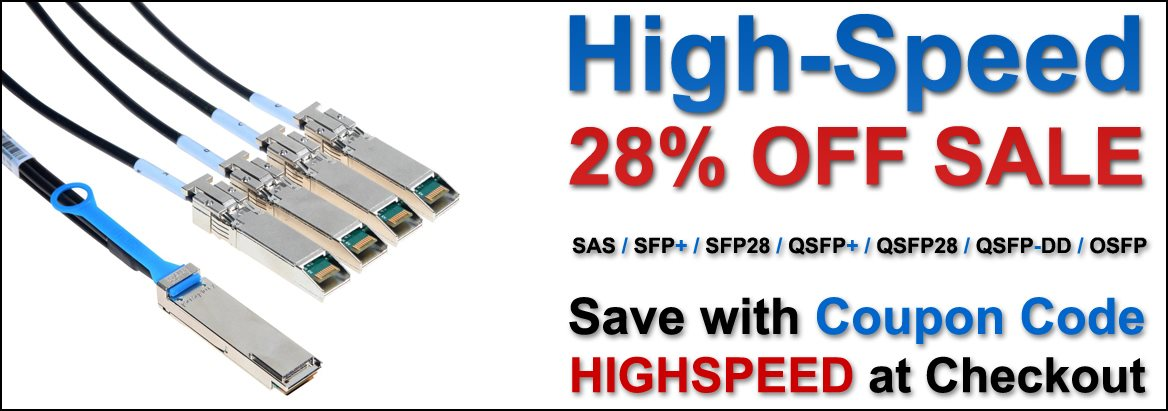 28% OFF Amphenol High Speed Copper Cables with Coupon Code CABLE28